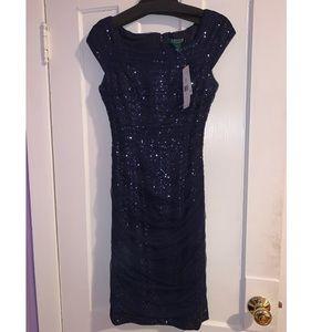 RALPH LAUREN NAVY BLUE DRESS SIZES 4 & 6 AVAILABLE